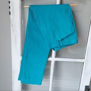 Worthington slim fit teal blue pants size 6